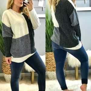 ae4442d84bc Sweaters - LAST 1 FINAL CHANCE CLEARANCE❌ GRAY BLOCK SWEATER
